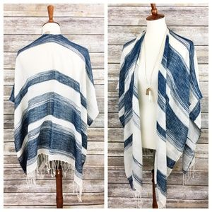 Urban Outfitters Ecote Striped Poncho